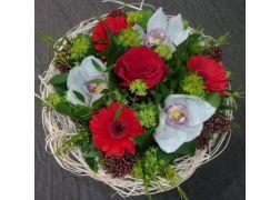 Bouquet cisal rouge et blanc
