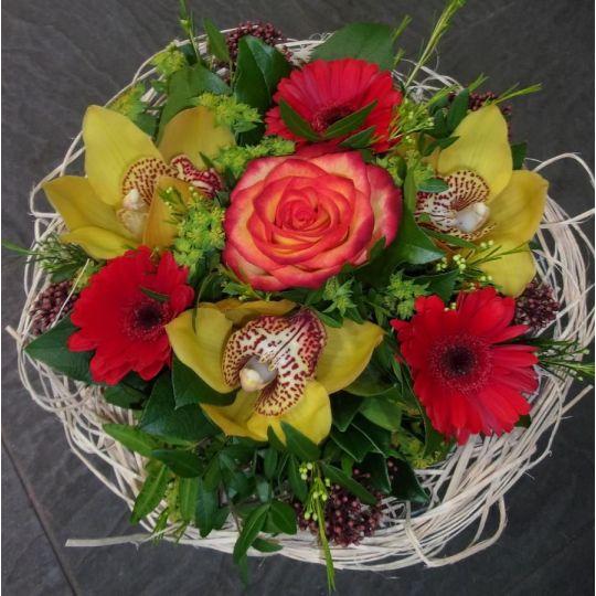 Bouquet cisal rouge et haune
