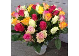 Bouquet de 40 roses multicolore
