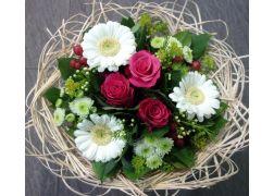 Bouquet cisal blanc et fuschia