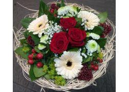 Bouquet cisal rouge et crème
