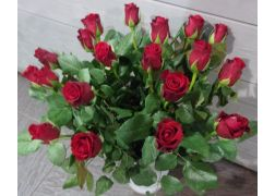 Bouquet de 20 roses rouge