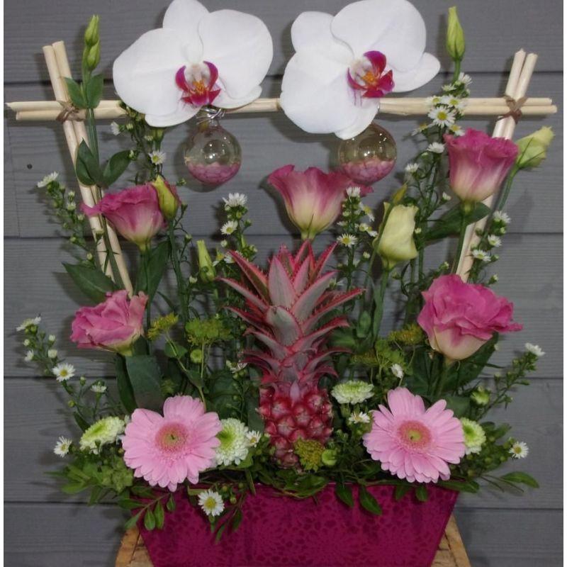 livraison de fleurs reims composition fleurs avec. Black Bedroom Furniture Sets. Home Design Ideas